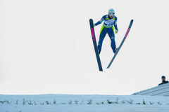 Unknown Ski Jumper Royalty Free Stock Photo
