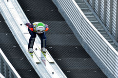 Unknown ski jumper Stock Photo