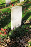 Unknown soldier grave, Nes, Ameland, Holland Royalty Free Stock Photography