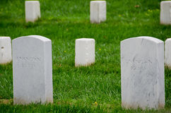 Unknown soldier gravestones in Arlington Cemetery Royalty Free Stock Image