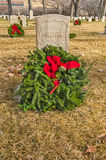 Unknown Soldier's Gravesite with Holiday Wreath Stock Photo