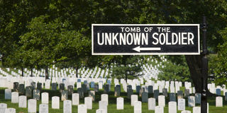 Unknown Soldier Tomb Sign Stock Images