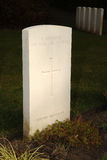 Unknown soldier, WW1 German Military cemetery, Belgium. Stock Photo