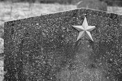 Unknown soviet soldier headstone Royalty Free Stock Image