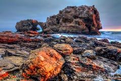 Corona Del Mar Jump Rock royalty free stock photo