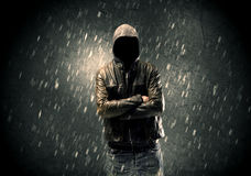 Unknown suspect standing in the dark Royalty Free Stock Images