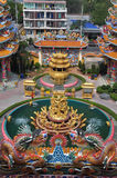 Unknown tourists visit Chinese shrine in Chonburi,Thailand. Stock Image