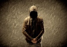 Unknown unidentifiable urban hooligan Royalty Free Stock Photography