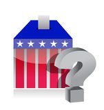 Unknown voting results. Illustration design over white Stock Photography