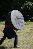 Unknown warrior on a historical medieval combat show Royalty Free Stock Photos