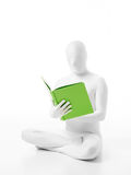Unknown white person green book Royalty Free Stock Image