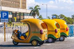 Unkonventionelles Taxi stockfotos