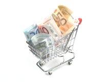 Unkosten des Einkaufens stockbild