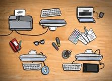 Unkosten des Schreibtischvektors lizenzfreie abbildung