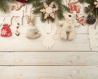Unkosten des Weihnachtsneujahrsfeiertaghintergrundes Dekoration wi lizenzfreies stockfoto