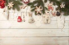 Unkosten des Weihnachtsneujahrsfeiertaghintergrundes Dekoration wi stockbild