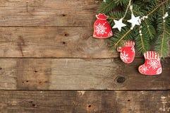 Unkosten des Weihnachtsneujahrsfeiertaghintergrundes Dekoration wi lizenzfreie stockfotografie