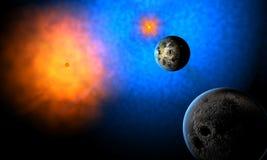 unkown системы планеты чужеземцев иллюстрация вектора