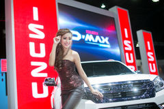 Unkwon Model in sexy dress with isuzu car at The 35th Bangkok International Motor Show, Concept Beauty in the Drive on March 27, 2 Royalty Free Stock Photos