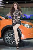 Unkwon Model in sexy dress at The 30th Thailand International Motor Expo Royalty Free Stock Image