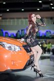 Unkwon-Modell im sexy Kleid an der 30. internationalen Bewegungsausstellung Thailands Lizenzfreie Stockbilder