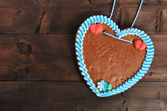 Unlabeled βαυαρική καρδιά μελοψωμάτων Στοκ φωτογραφία με δικαίωμα ελεύθερης χρήσης