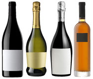 Unlabeled assorted bottles Royalty Free Stock Photos