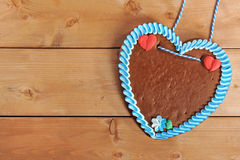 Unlabeled Bavarian gingerbread heart Stock Photo