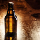 Unlabeled brown bottle of beer Royalty Free Stock Photo