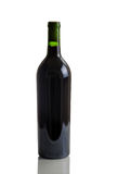 Unlabeled Full Bottle of Red Wine Stock Image