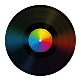 Unlabeled Record Rainbow Colors Vinyl Royalty Free Stock Photos