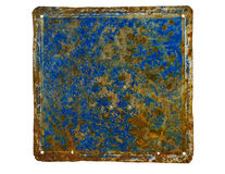 Unlabeled rusty house number plate Royalty Free Stock Photography