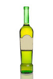 Unlabeled wine bottle Royalty Free Stock Photo