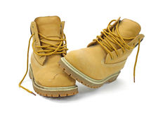 Unlaced work boots Stock Photography