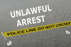 Unlawful Arrest concept Royalty Free Stock Photos