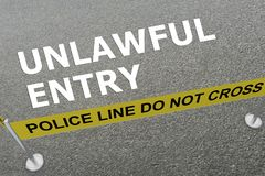 Unlawful Entry concept Stock Image