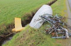 Unlawful Garbage Dumping Royalty Free Stock Images