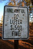 Unlawful to Litter - Ok to Shoot? Royalty Free Stock Image