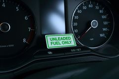 Unleaded Fuel Only Stock Photography
