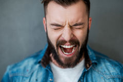 Unleashed emotions. Royalty Free Stock Photo