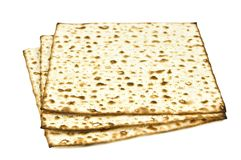 Unleavened bread on white Stock Image