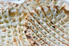 Unleavened cake like matzah. Stock Photos