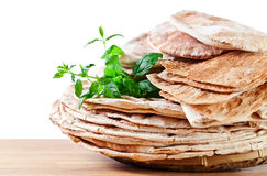 Unleavened wheat cake Stock Photo
