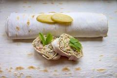 Unleavened wheat cake. Royalty Free Stock Photo