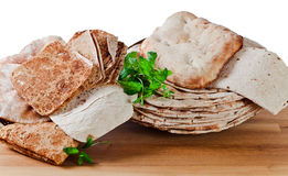 Unleavened wheat cake Stock Image