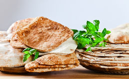 Unleavened wheat cake Royalty Free Stock Images