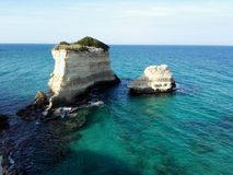 The Faraglioni of San`Andrea tower in Salento Royalty Free Stock Photography
