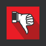 Unlike sign. Vector illustration of the unlike hand sign Stock Photography