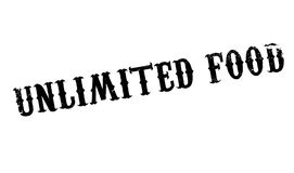 Unlimited Food rubber stamp Royalty Free Stock Image