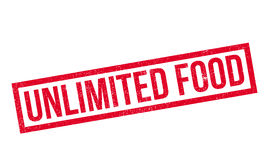 Unlimited Food rubber stamp. Grunge design with dust scratches. Effects can be easily removed for a clean, crisp look. Color is easily changed Stock Photography